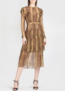 Шелковое платье Zimmermann с принтом под рептилию, фото