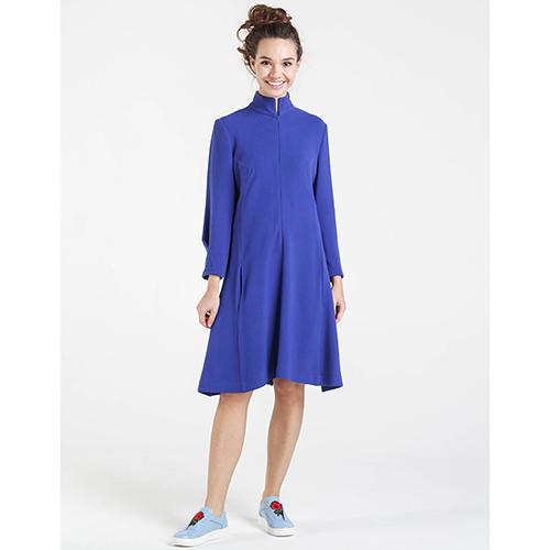 Платье синего цвета Shako на молнии, фото