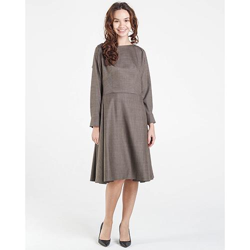 Коричневое платье Shako с пышной юбкой, фото