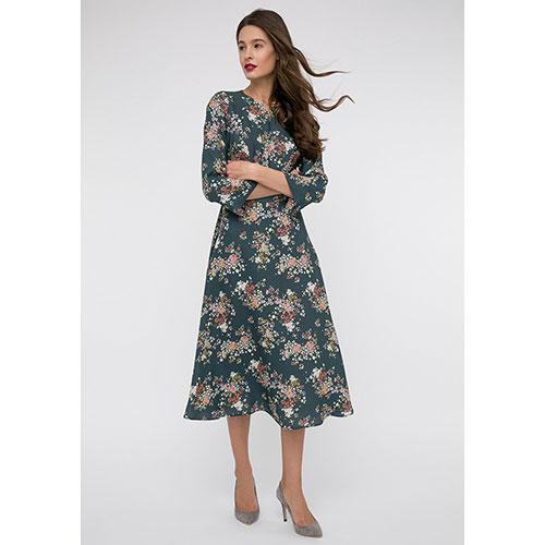 Платье с рукавом три четверти Shako в мелких цветах, фото