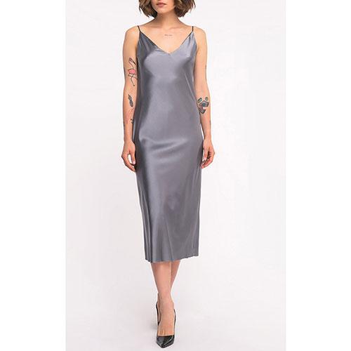 Шелковое платье Shako на бретельках, фото