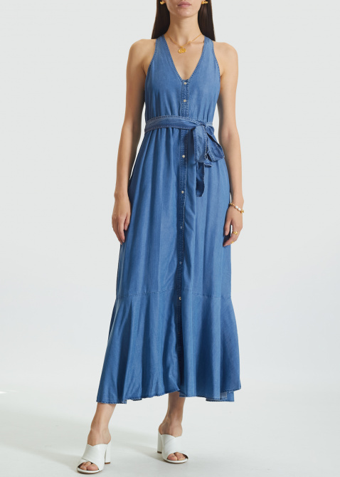 длинное джинсовое платье купить в интернет магазине
