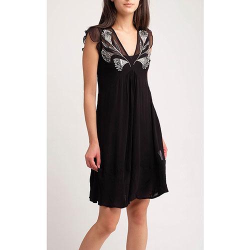 Черное платье Twin-Set с декором-стразами, фото