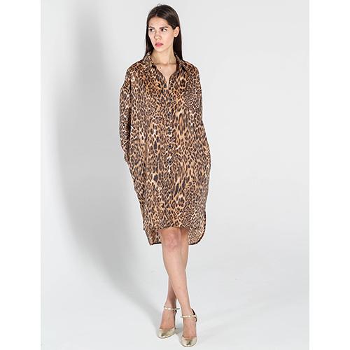 e067026a64e ☆ Платье-рубашка Kristina Mamedova с леопардовым принтом купить в ...
