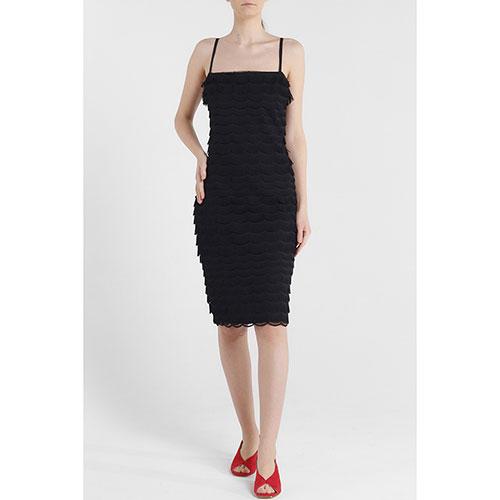 Черное платье Cavalli Class с бахромой, фото