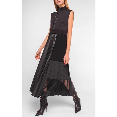 Черное платье Dorothee Schumacher с плиссированной юбкой, фото