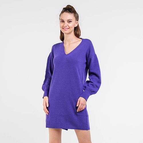 Вязаное платье Blugirl фиолетового цвета, фото