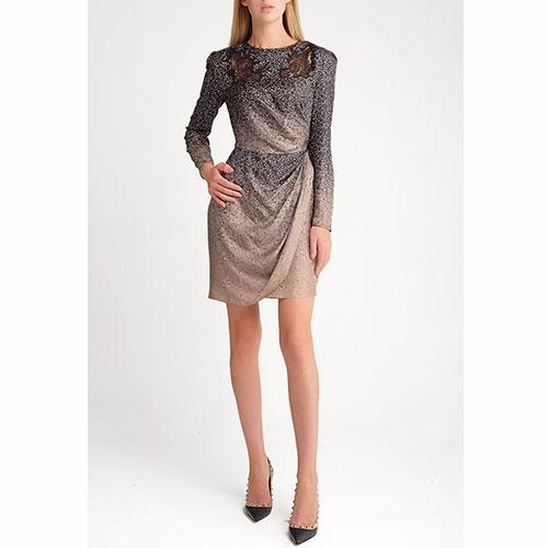 Шелковое платье Fendi с флористическим принтом, фото