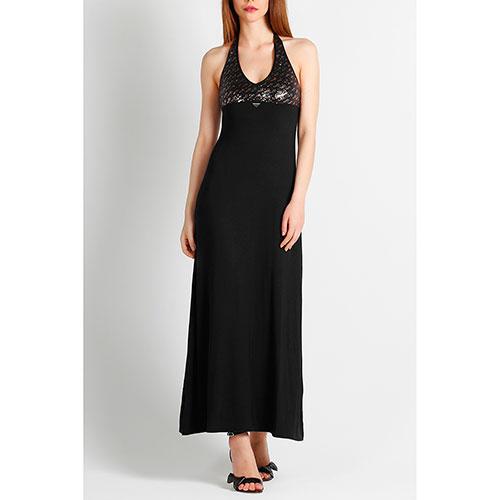 Платье с пайетками Emporio Armani черного цвета, фото
