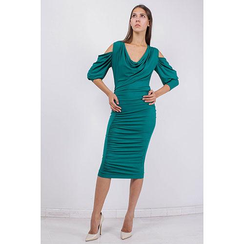 Коктейльное платье зеленое купить