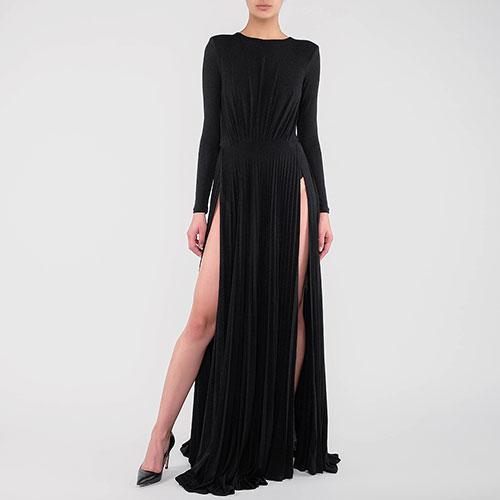 Длинное платье Elisabetta Franchi с открытой спиной, фото