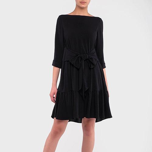 Черное платье Emporio Armani с бантом, фото