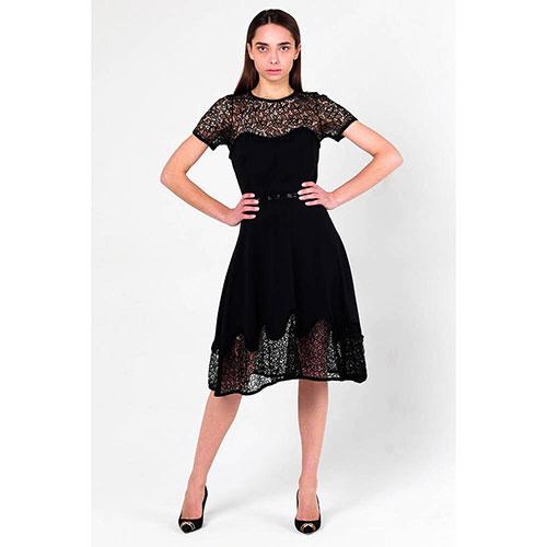 Кружевное платье Philipp Plein с поясом, фото