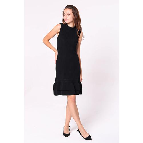 Вязаное платье Emporio Armani до колен, фото