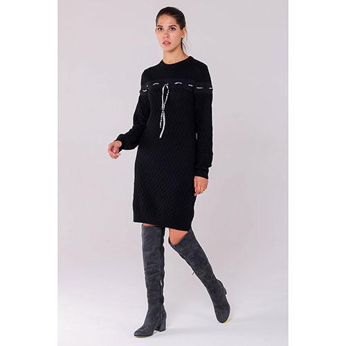 Трикотажное платье Love Moschino черного цвета, фото
