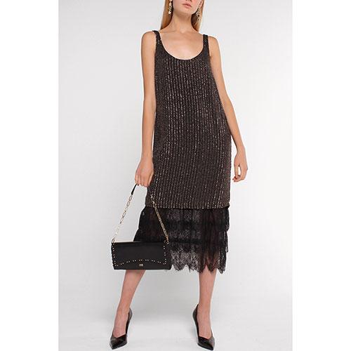 Платье Twin-Set черное с декором-пайетками, фото