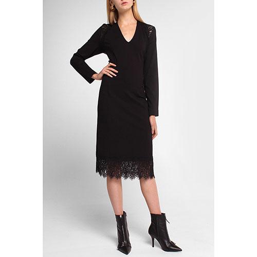 Платье Twin-Set с кружевом черного цвета, фото