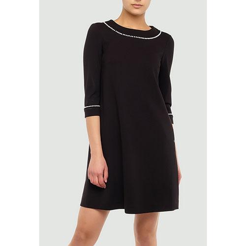 Черное платье Twin-Set с бусинами, фото