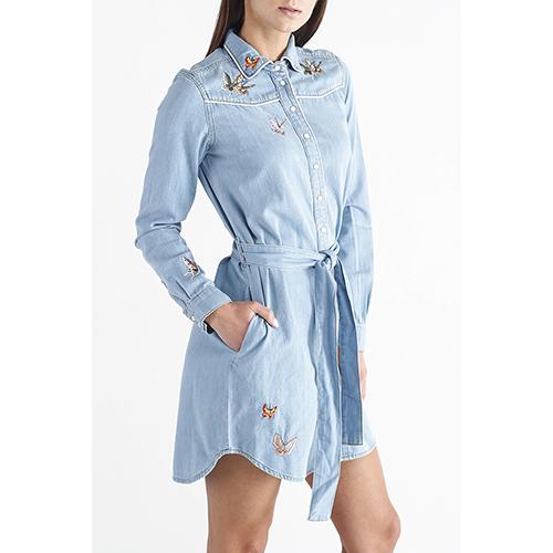 Платье -рубашка Twin-Set с вышивкой, фото
