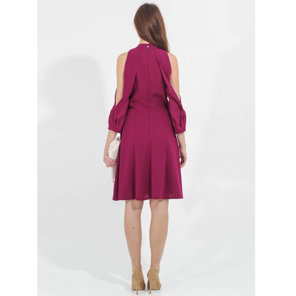 Платье Sandro Ferrone с открытыми плечами и воланами