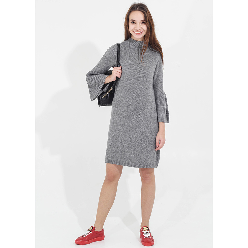 Вязаное платье Tensione in серого цвета