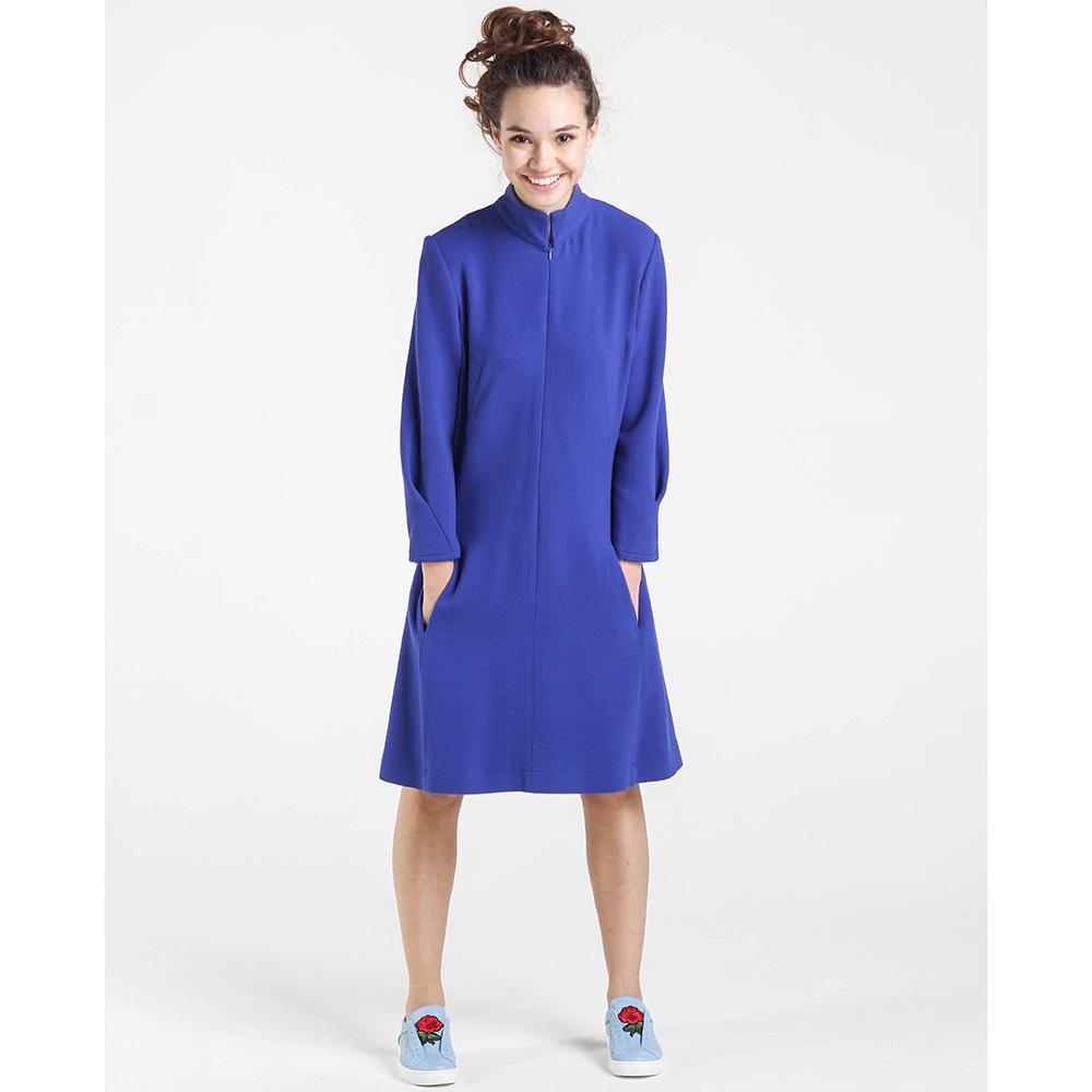 Платье синего цвета Shako на молнии