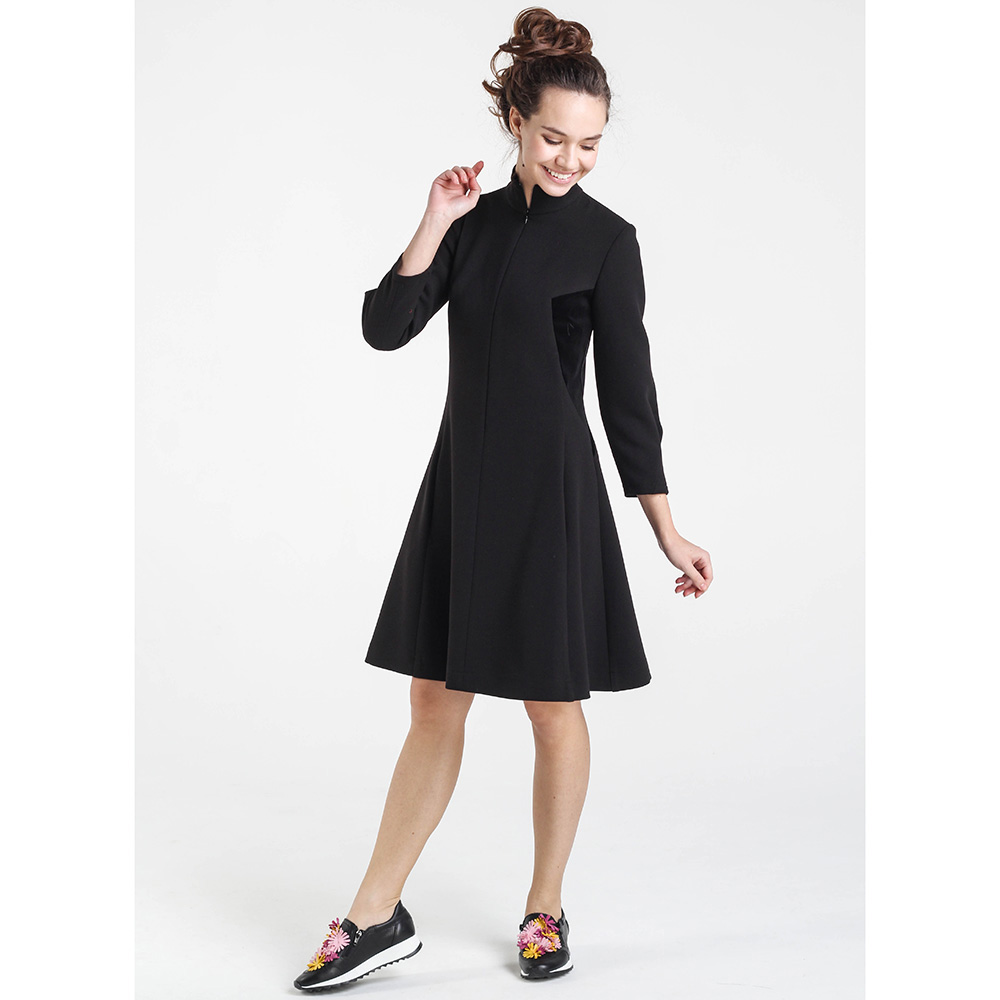Черное платье Shako до колен на молнии