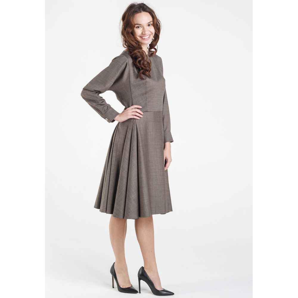 Коричневое платье Shako с пышной юбкой