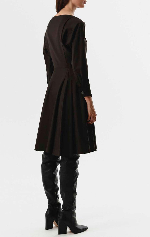 Коричневое платье Shako с пышной юбкой до колен