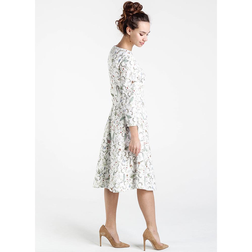Белое платье Shako с цветочным принтом