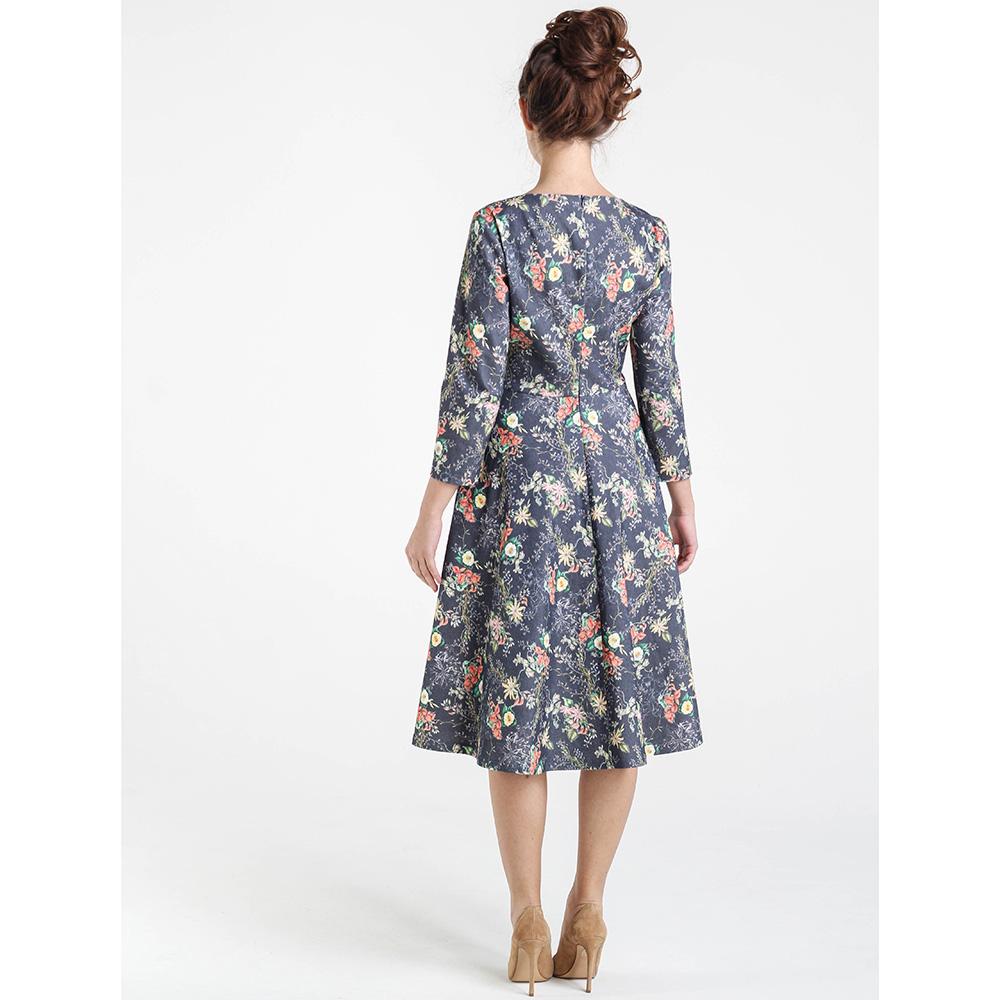 Платье серого цвета Shako с цветочным принтом