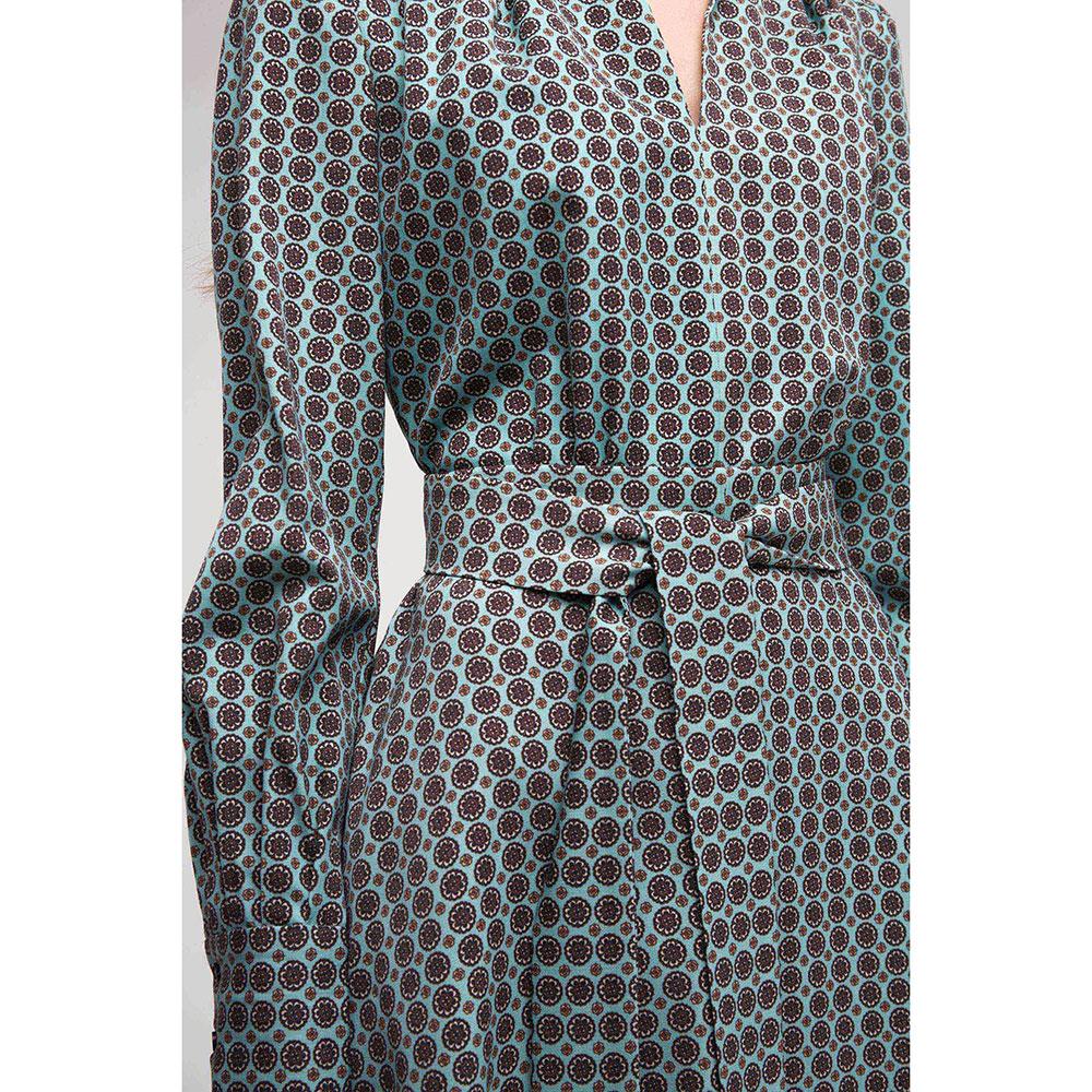 Бирюзовое платье Shako с принтом