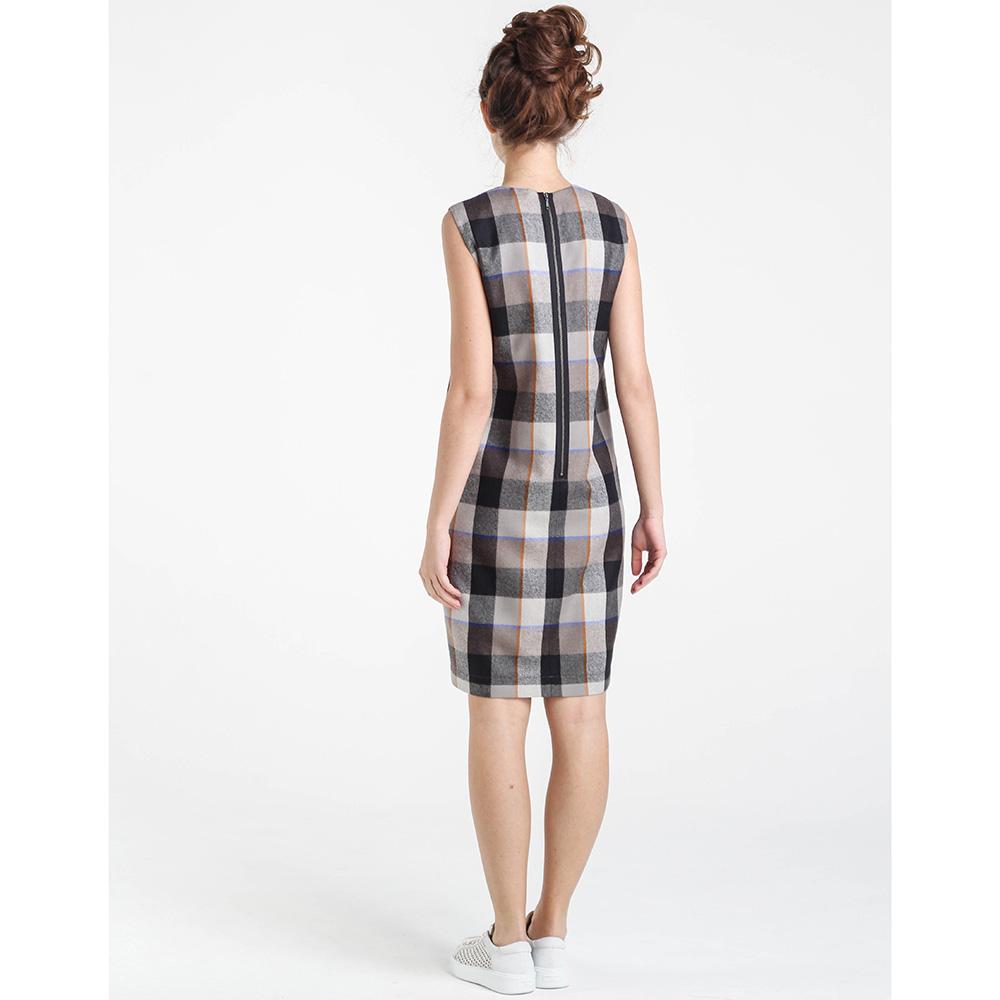 Бежевое платье Shako в клетку с молнией на спине