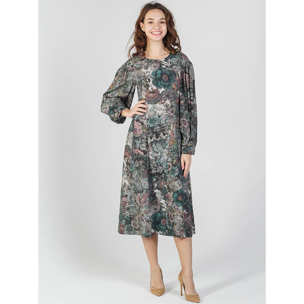 Платье Shako с цветочным принтом зеленого цвета