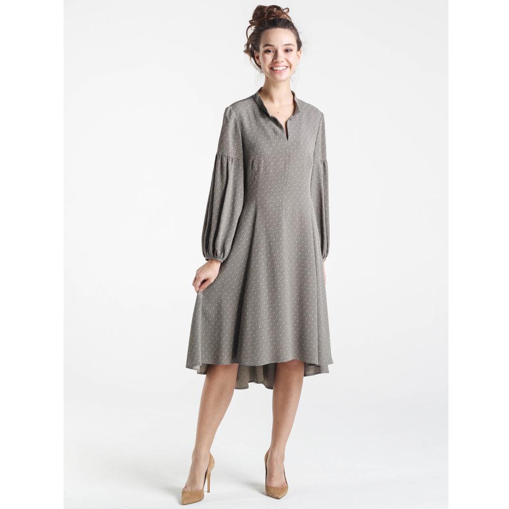 Серое платье Shako с рукавом-фонариком