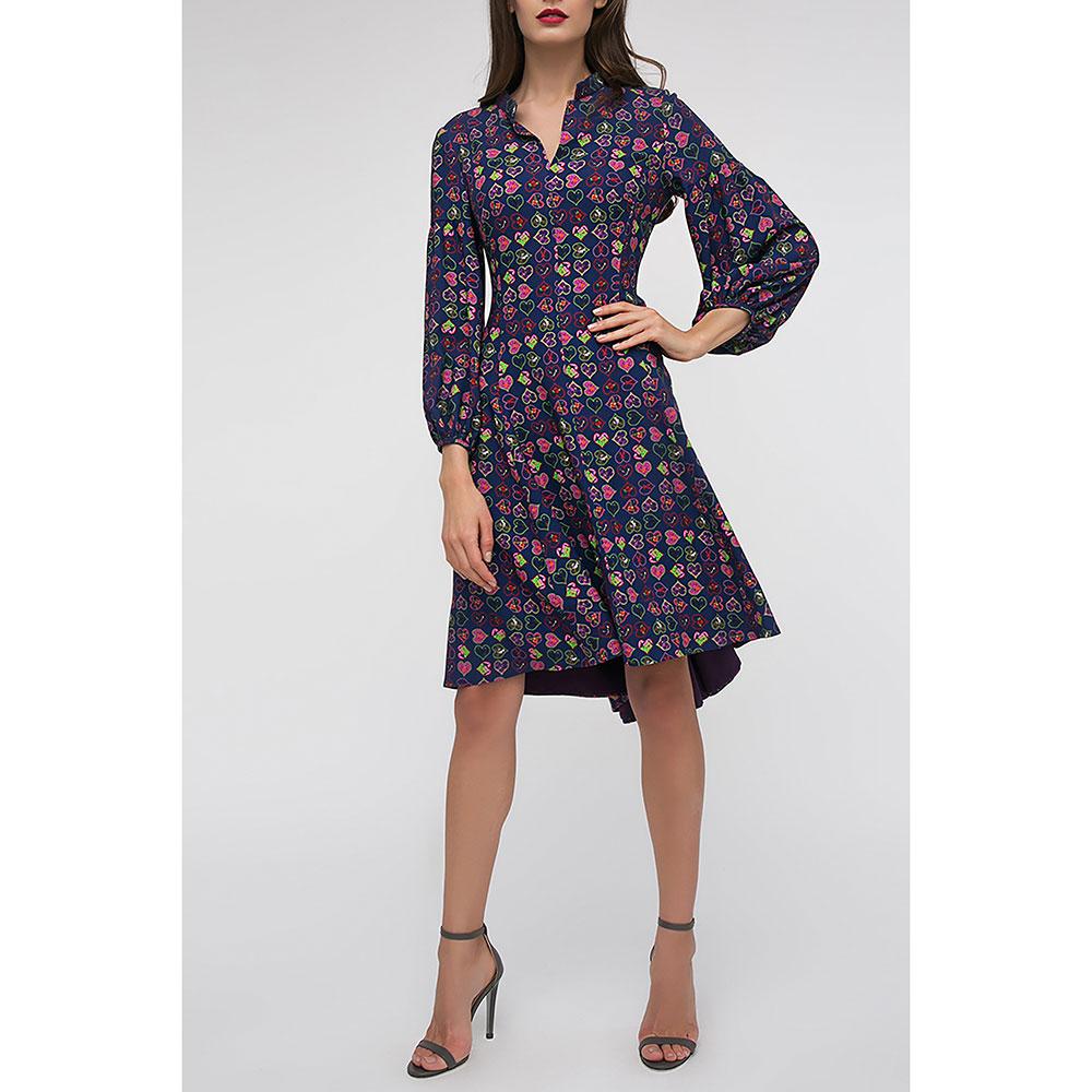 Платье Shako синего цвета с пышной юбкой