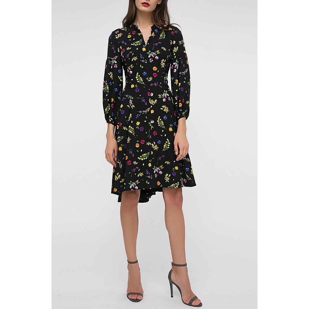 Платье Shako черного цвета с цветочным принтом