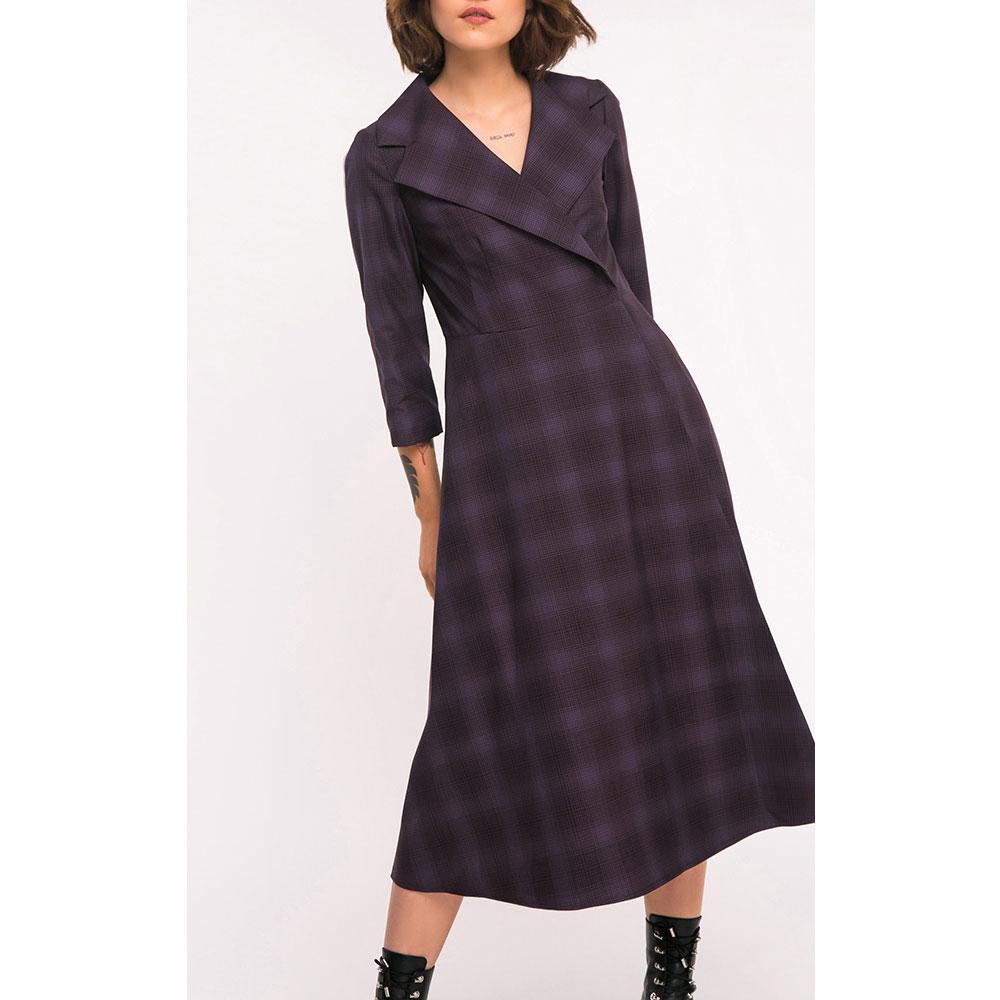 Шерстяное платье Shako в крупную клетку