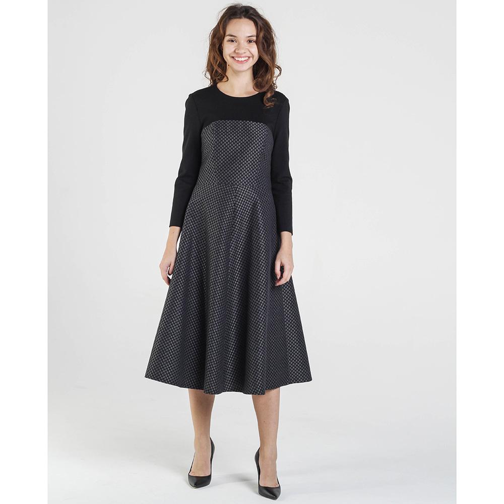 Серое платье Shako до колен с пышной юбкой