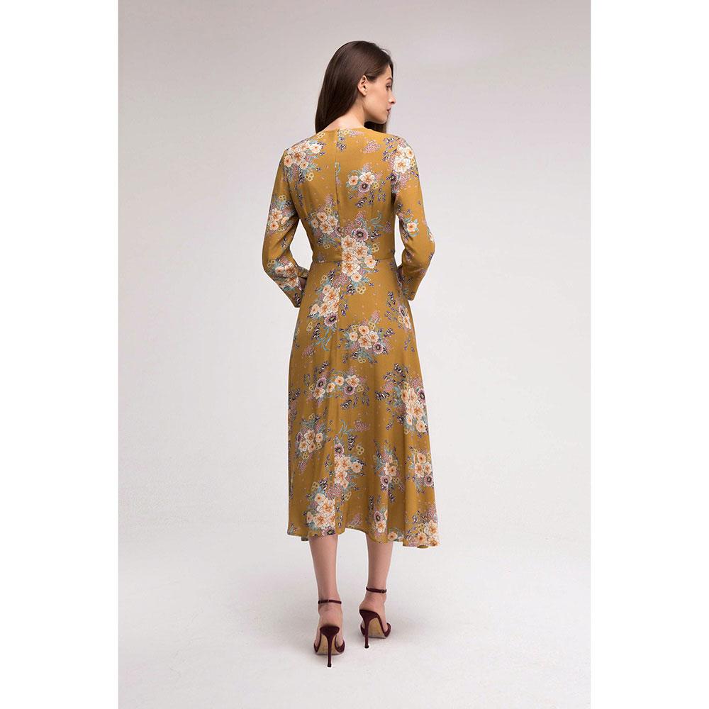 Горчичное платье Shako с цветочным принтом
