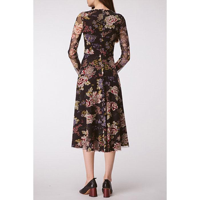 Платье-миди Shako с крупным цветочным принтом