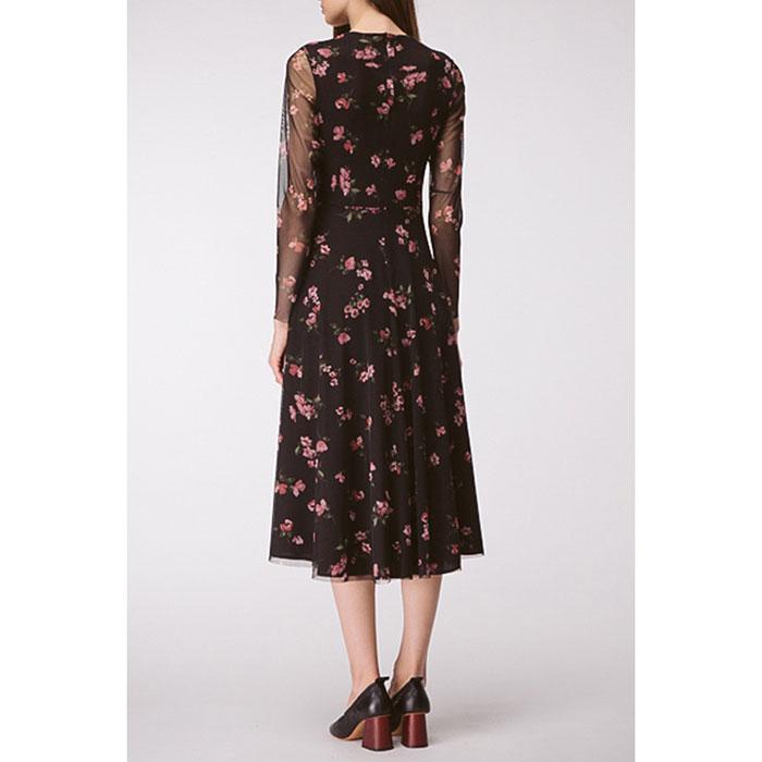 Платье черное Shako в мелкие цветы