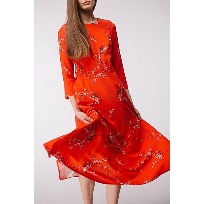 Платье-клёш Shako красного цвета с принтом