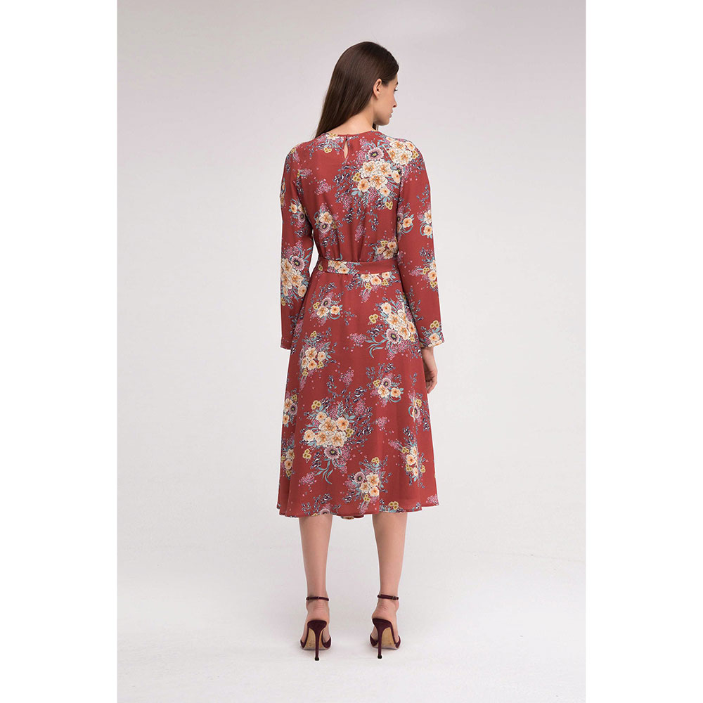 Красное платье Shako с ассиметричной юбкой