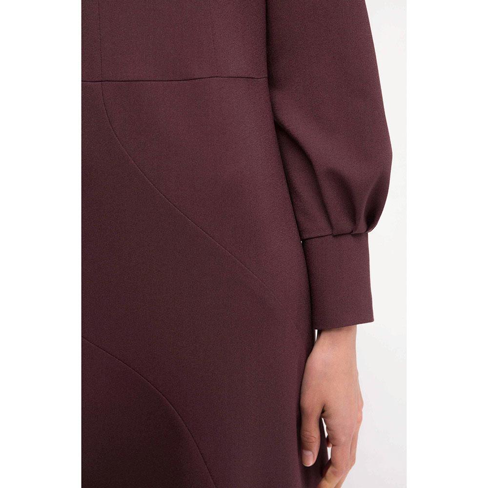 Платье Shako цвета бургунди полуприлегающее