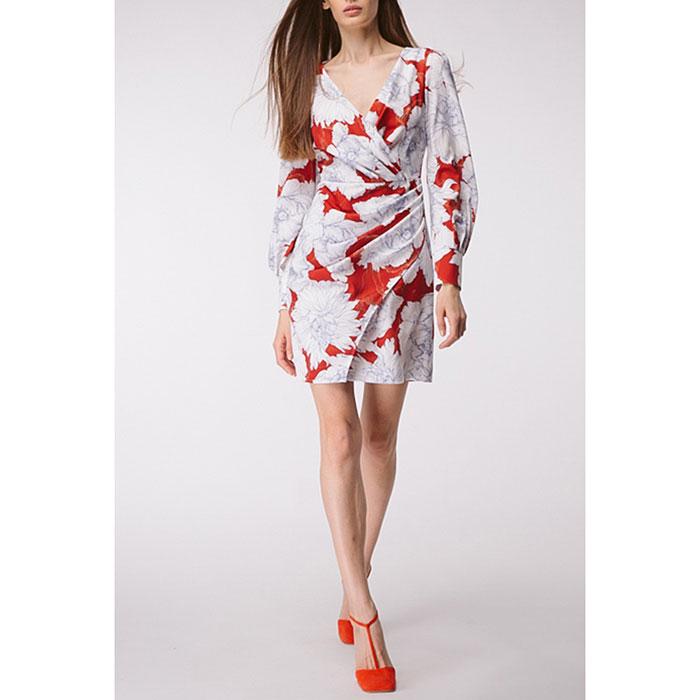 Платье с драпировкой Shako и принтом-пионами