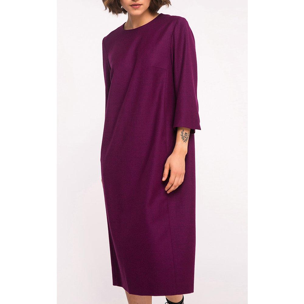 Платье Shako фиолетовое прямого кроя