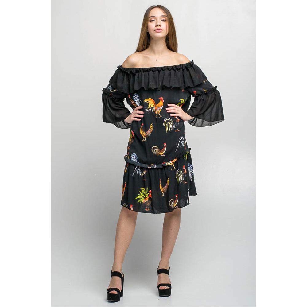 Черное платье с воланами Emma&Gaia в петушках