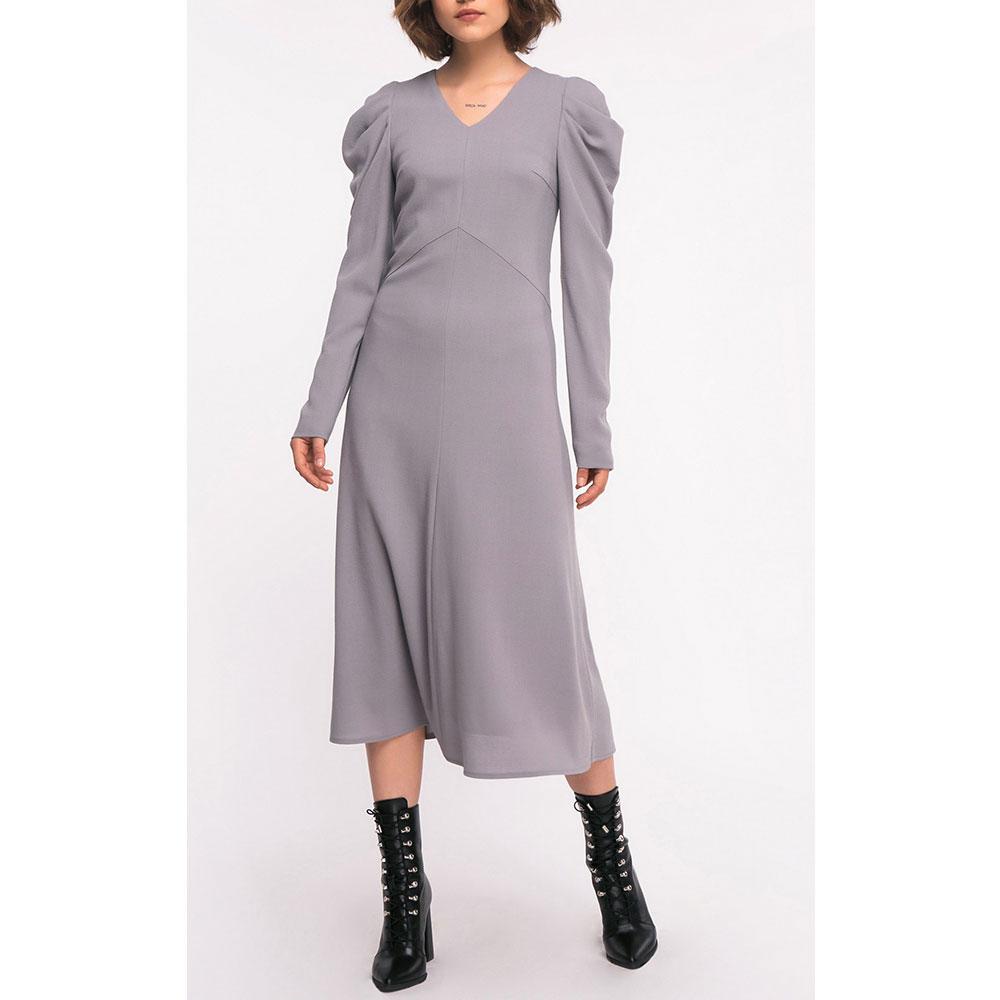 Шерстяное платье-миди Shako серого цвета