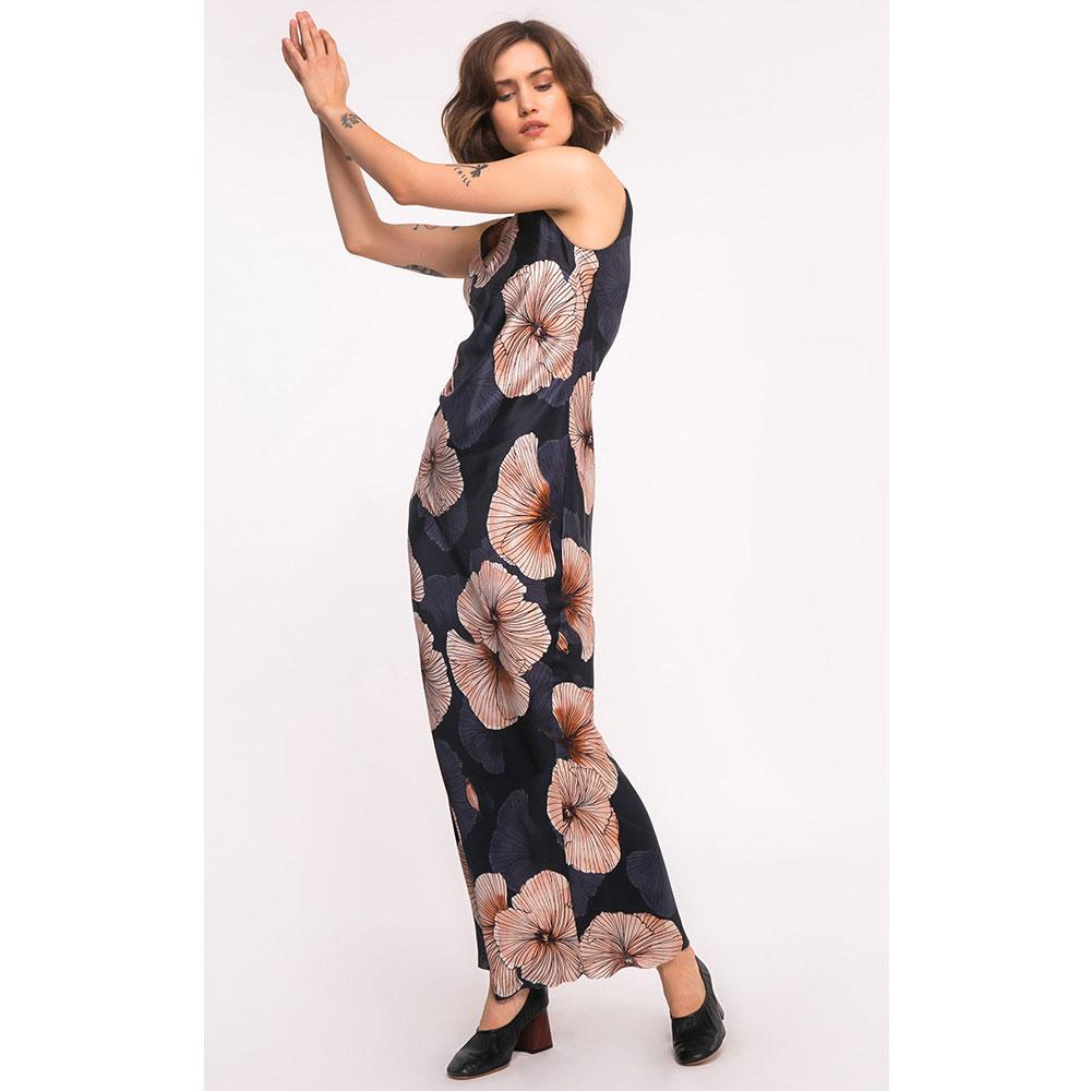 Шелковое платье Shako с цветочным принтом
